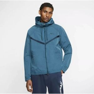 Nike Jacket Mens Zip Blue Grey Loose Fit Sz S